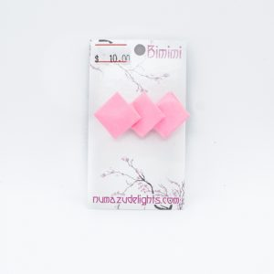 Pink Origami Earrings